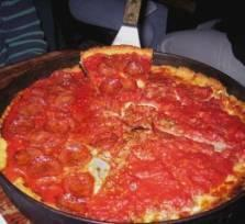 Deep dish pizza in Chicago!