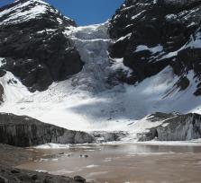 El Morado hanging glacier