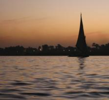 sunset in the Nile