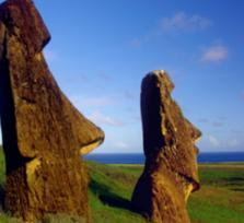 On the moai road