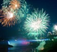 Niagara Falls Fire in the Sky