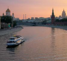 Boat tour of Moscow
